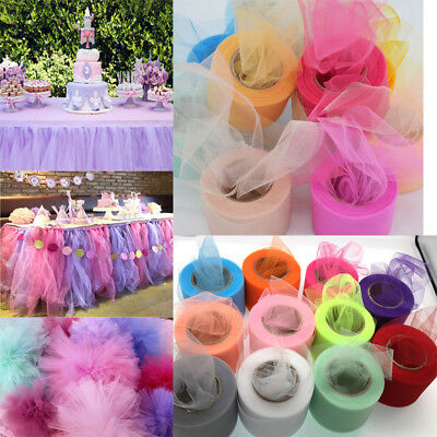 "2""x 25YD Tutu Tulle Roll Spool Netting Craft Fabric Wedding Party Decoration Diy"