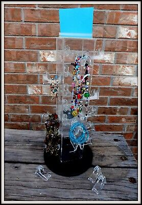 Jewelry Display Spinning FIXTURE 4 NECKLACES, BRACELETS Holder Retail Giftshops~
