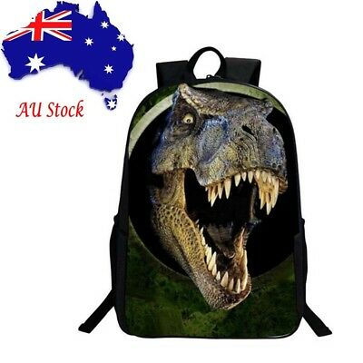 AU Stock 3D Dinosaur Boys Backpack Animal Print School Kids Teens Rucksack Bags