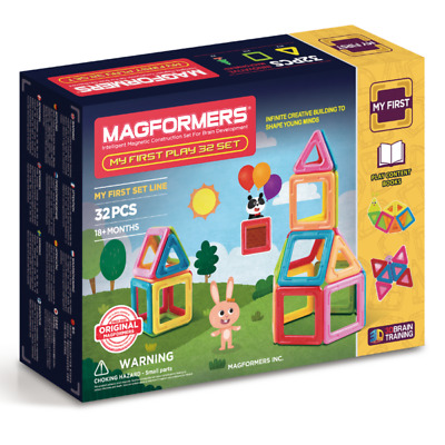 NEW Magformers - My First Play 32 Set Kids Childrens Toys