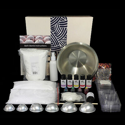Massive Bath Bomb Making Kit with Giftbox Makes 40+ Bath Bombs and Fizzies