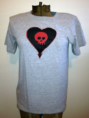 ALKALINE TRIO t-shirt rare goddamnit era 90s skull heart grey gray adult small