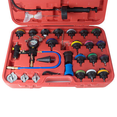 28PCS Safty Radiator Pressure Tester/Vacuum-Type Cooling System Refill Kit +Case