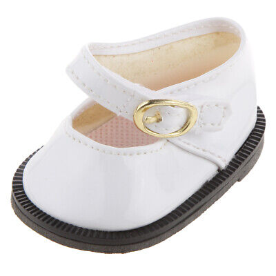 White Ankle Strap Shoes for 18'' American Girl My Life Our Generation Dolls