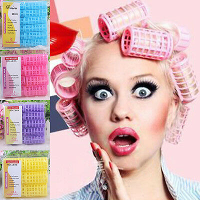 DIY Hair Curlers Rollers Tool Salon Soft Large Hairdressing Tools 6/8/10/12pcs