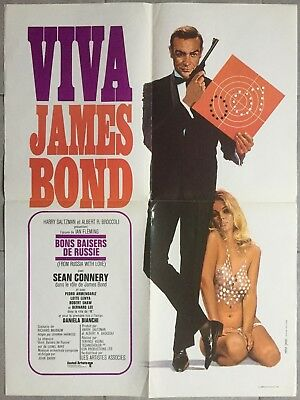 Affiche BONS BAISERS DE RUSSIE From Russia with love SEAN CONNERY James Bond