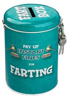 Instant Fines Tin Gift Pay Up for Farting Money Saver Box Present