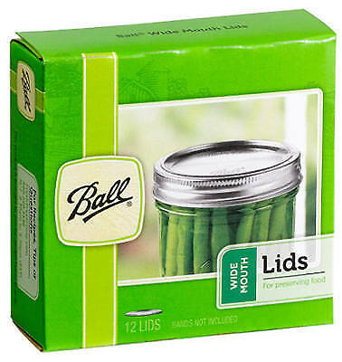 JARDEN HOME BRANDS - Wide-Mouth Dome Canning Lids, 12-Pk