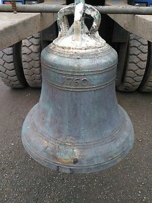 Large Antique Bronze Georgian Church Bell (very heavy)
