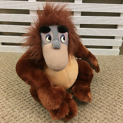 "Walt Disney Jungle Book King Louie Orangutan Monkey Soft Toy 8"" by Mattel 1993"