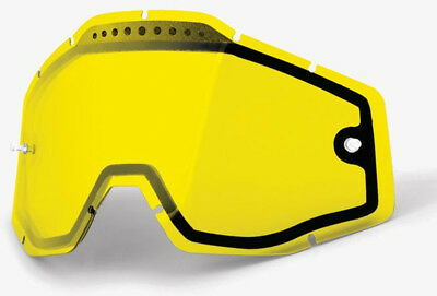 100% Replacement Anti-Fog Vented Dual Pane Goggle Lens Yellow