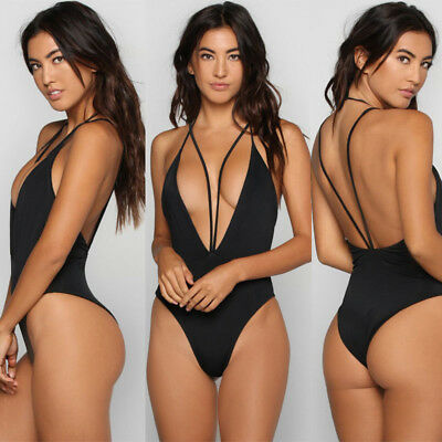Womens Sexy One-piece Swimsuit High Cut Swimwear Push Up Monokini Bathing Bikini