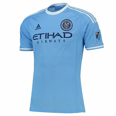 adidas Mens Gents Football New York City FC Authentic Home Shirt 2015/2016