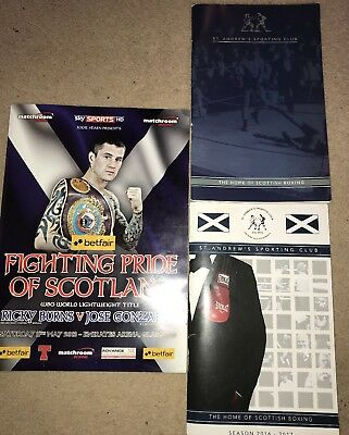 Scottish Boxing Programmes - Featuring Ricky Burns & The Late Great Mike Towell