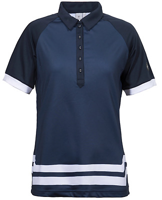 Cross Sportswear Golf Poloshirt Damen Größe M STATT 89€ Stretch, Dry Layer Navy