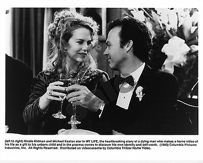 My Life Movie Still B&W Photo Michael Keaton Nicole Kidman