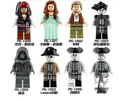 Pirates of the Caribbean 5 Mini figures Blocks Jack Sparrow Building Brick Toy