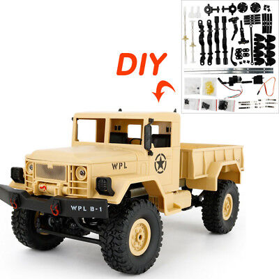 WPL-B1 B-24 1:16 4WD RC Crawler Military Truck Assemble OFF-Road 4-Channels Car