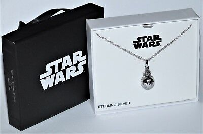 New in Gift Box BB8 Women's Sterling Silver Pendant Necklace - BB 8