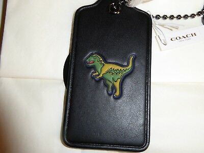 COACH  DINOSAUR Leather  Charm REXY