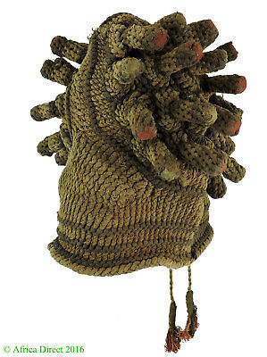 Old Bamileke Royal Hat Fingerlings Cameroon African Art SALE WAS $250