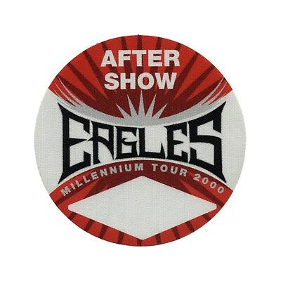 The Eagles authentic Aftershow 2000 tour Backstage Pass