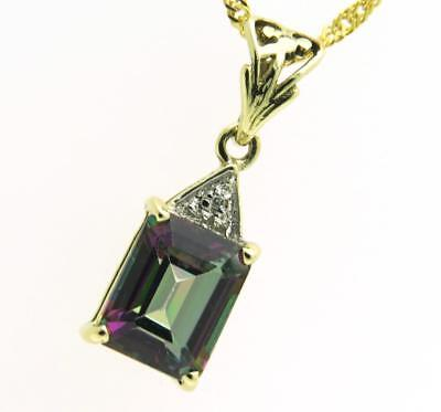9ct gold rag doll pendant with 24 box rope chain 49900 authentic mystic topaz pendant 9ct gold with 9ct chain free gift box pp mozeypictures Images