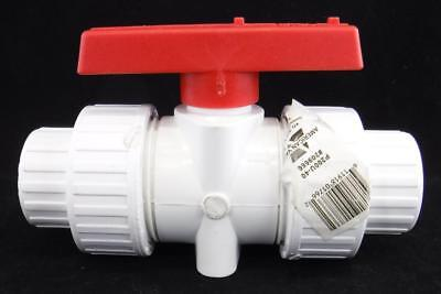 "American Valve P200U-40 3/4"" PVC True Union Ball Valve Socket 209666"