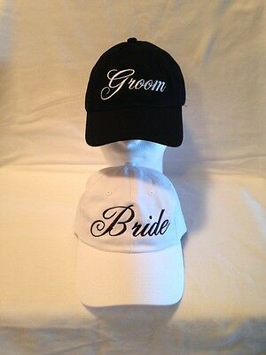 Bride Groom Hats /  Wedding Hats   Bride Tribe Hats  custom embroidery