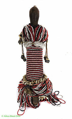 Fali Beaded Fertility Doll with Cowrie Shells Cameroon Africa SALE WAS $275
