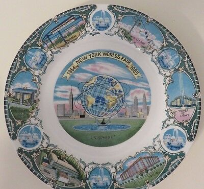 Authentic Vintage 1964-1965 New York World's Fair Collector Plate -Made In Japan