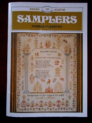 Shire 30 Album SAMPLERS by Pamela Clabburn History UK Book of Embroidery
