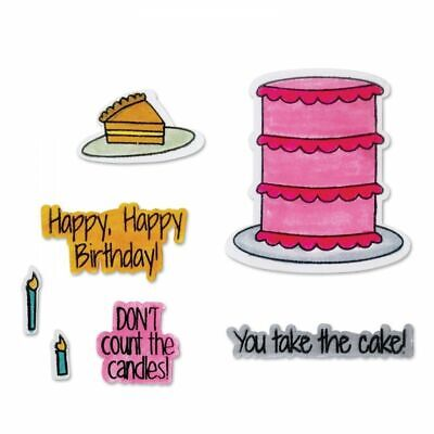 Take the Cake - Sizzix Framelits with Stamps - 8 Dies plus 8 Stamps