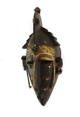 Marka Warka Mask with Repoussee Copper Alloy Mali African Art