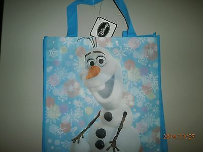 Disney FROZEN Olaf Non-Woven Tote Bag For Boy or Girl 13X12 1/4X6 1/4 In. NEW