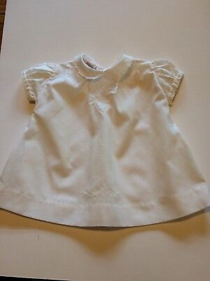 1970's Vintage White Dress for Baby Girl | Size 0-6 Months