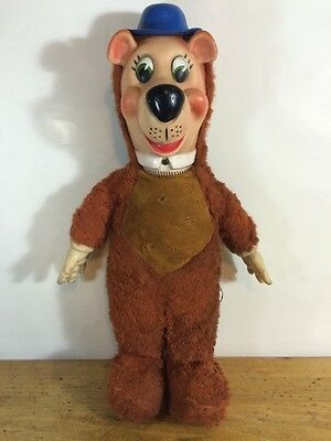 Yogi Bear Plush Rubber Face Hands 1950's 17 Inch Vintage Toy