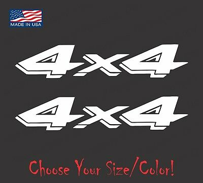 (2) 4x4 Truck Vinyl Decal Set for Dodge Dakota Ram Ford Chevy Jeep Stickers