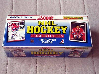New Factory Sealed 1990 Score NHL Hockey Premier Edition Collector Set Lindros +