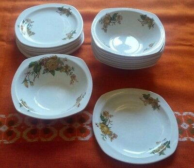 Vintage Midwinter stylecraft set of 8 dessert bowls and plates Staffordshire