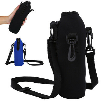 1000ML Water Bottle Carrier Insulated Cover Bag Holder Strap Pouch Outdoor EB