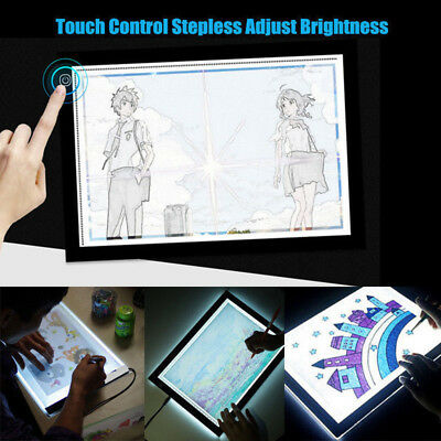 Power Adjustable Brightness A4 LED Stencil Board Drawing Tracing Light Box Pad
