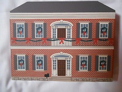 1994 Cats Meow Village New Orleans Christmas Series Hermann Grima house ~new