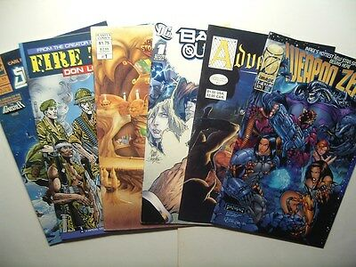 Lot 6 #1 Issues Marvel / DC / Image / Aircel / Planet-X / Adventure Comics
