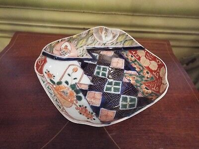 Antique Vintage Japanese Imari With Bird Footed Bowl Nr