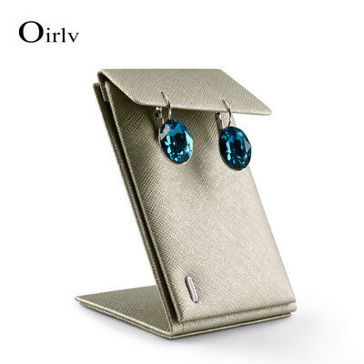 Oirlv PU Leather Jewellry Display Stand with S shape for Earring Display Holder