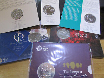 UK Royal Mint SEALED BUNC £5 FIVE POUND COIN 2015 - 2018 MULTI LISTING