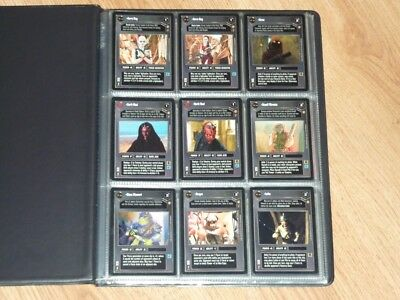 Star Wars CCG Tatooine Full Set of 90 + 8 Game Aide + 9 Alt Image Cards - BB