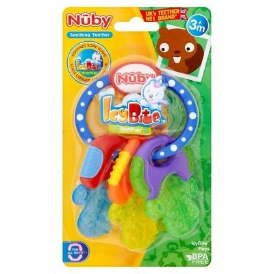 Nuby Icy Bite Teether Keys Baby Toy Teething Relief Baby Care Fun Play Children