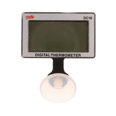 DC-16 Digital Mini LCD Thermometer Submersible For Fish Tank W Suction Cup